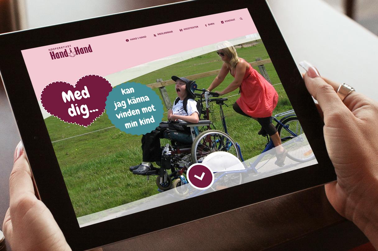 Webbsajt för Hand i hand