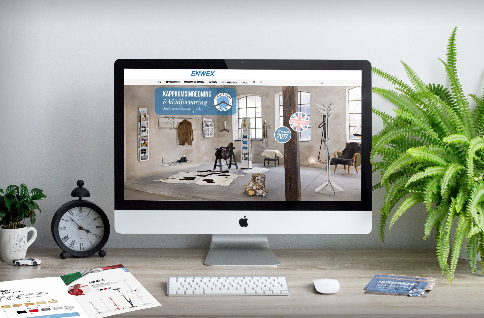 En ny hemsida för Enwex –now in English och nya marknadsföringsverktyg